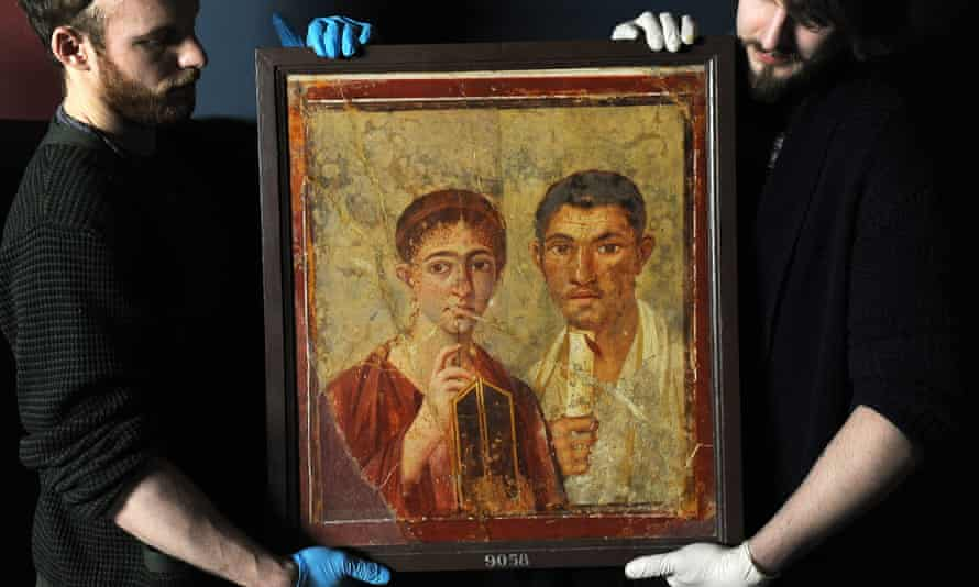 roman fresco of Terentius Neo and his wife pompeii