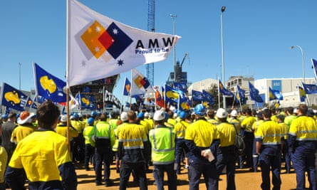 Australian submarine protest