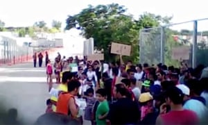 Protests outside Nauru detention centre