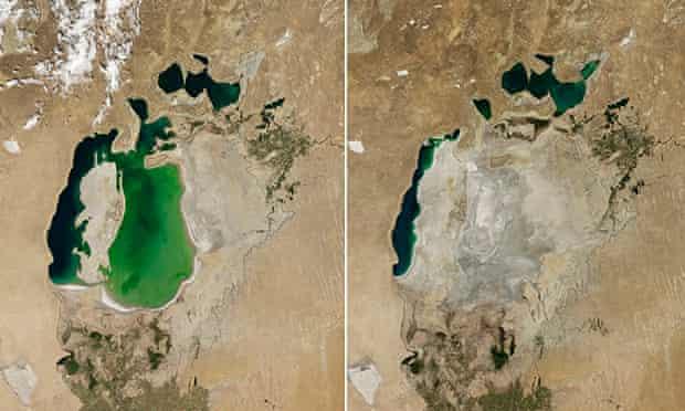South Aral Sea shrinking