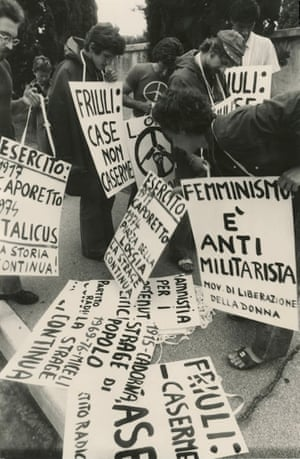 Conscientious objectors demonstrate, 1976.