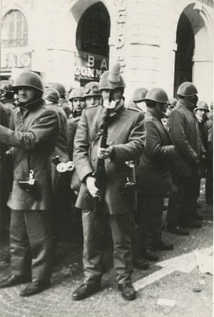 Specialist anti-riot police unit Celere, 1970s.