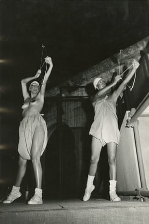 Fashion show catwalk, 1970s.