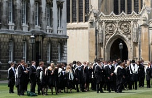 Hallowed halls: graduation day at Cambridge, where arecent survey shows that more than a fifth of students are depressed.