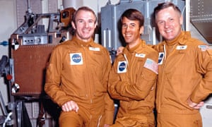 Crew of Skylab4  (L-R) Gerry Carr, Ed Gibson & Bill Pogue