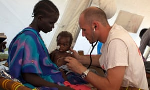Doctor working in South Sudan