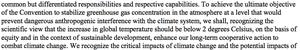 Copenhagen Accord text on 2C target