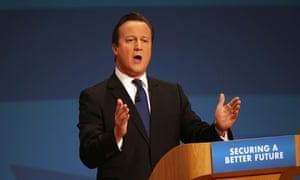 Prime Minister David Cameron delivers his keynote speech at the Conservative Party Conference in Birmingham on October 1, 2014 in Birmingham