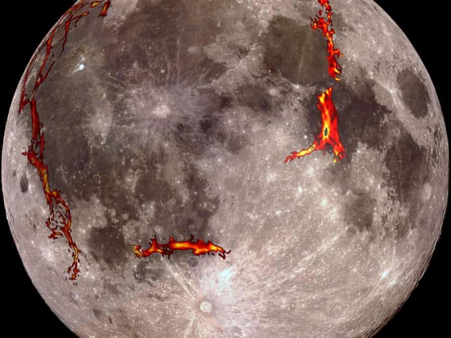Full moon showing position of rift valleys