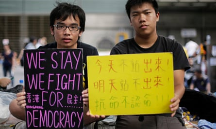 Student protesters in Hong Kong