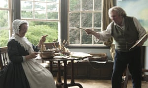 Marion Bailey as Mrs Booth and Spall as Turner in Mike Leigh's new film.