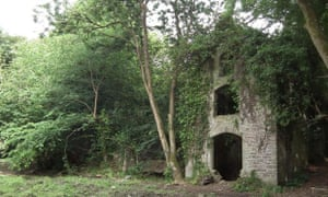 Ruins at Fir Hill Manor in Cornwall