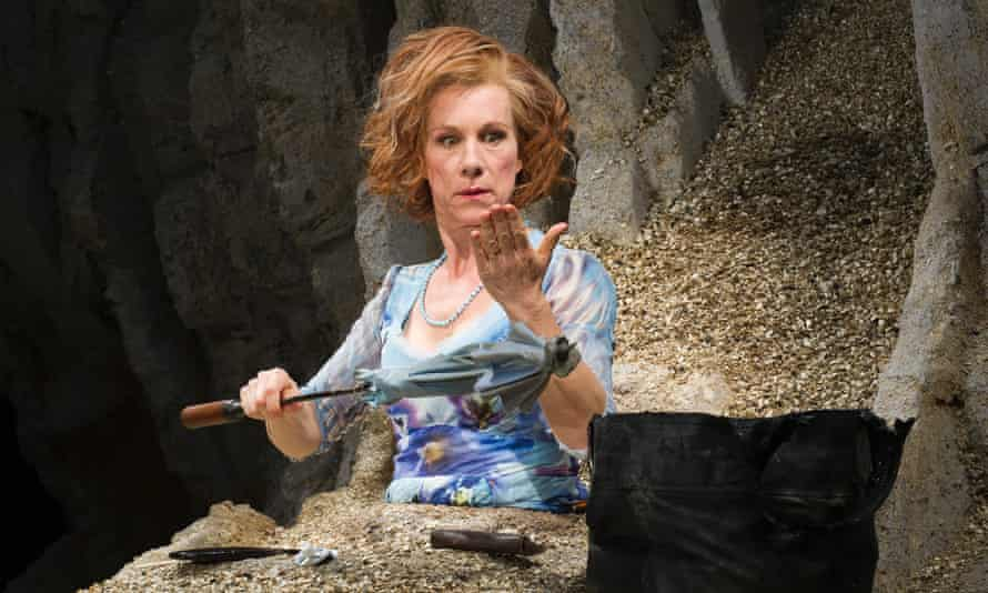 Juliet Stevenson in Happy Days at the Young Vic.