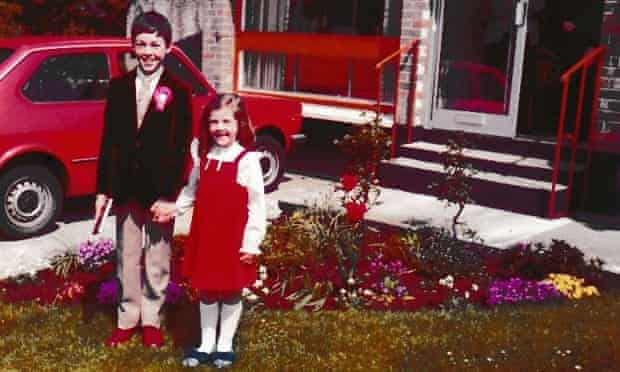 John Boyne on the day of his communion with his younger sister.