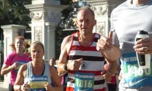 Tom Hoblyn running the Kew half marathon