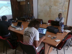 Mapping party in Kinshasa