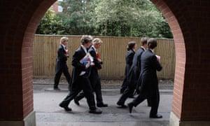 Students walking at Eton schol