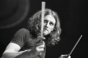 Drummer Klaus Dinger of Kraftwerk