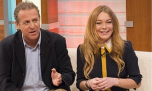 Nigel Lindsay and Lindsay Lohan appear on ITV's Good Morning Britain to promote the play.