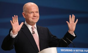 William Hague addresses delegates at the Conservative party conference in Birmingham for the last time.