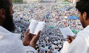 Muslim pilgrims in Mecca, 2012