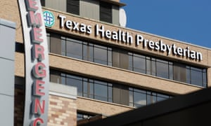 The Texas Health Presbyterian hospital in Dallas, where the first patient to be diagnosed with Ebola outside Africa is being treated.