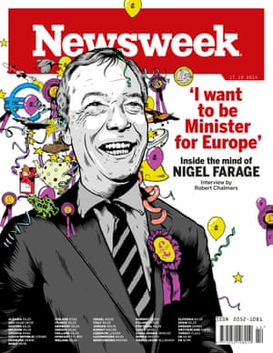 Newsweek's European issue, with Ukip leader Nigel Farage on the cover.
