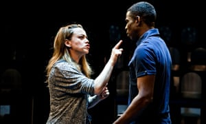 Female actor threatens male on stage in production of Duncan Macmillan's Lungs