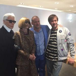 #AppleWatch with @karllagerfeld, Anna Wintour, Jony Ive & Marc Newson #colette #karllagerfeld #annawintour #jonyive #marcnewson