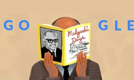 RK Narayan Google doodle