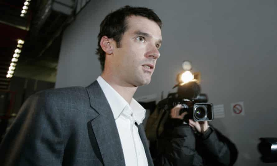 David Millar arrives at a doping trial at a district court in the Paris suburb of Nanterre in November 2006.