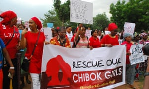 Protest in Abuja with Oby Ezekwesili