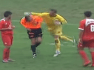 6f2654efb Bosnian goalkeeper punches referee – after receiving yellow card ...