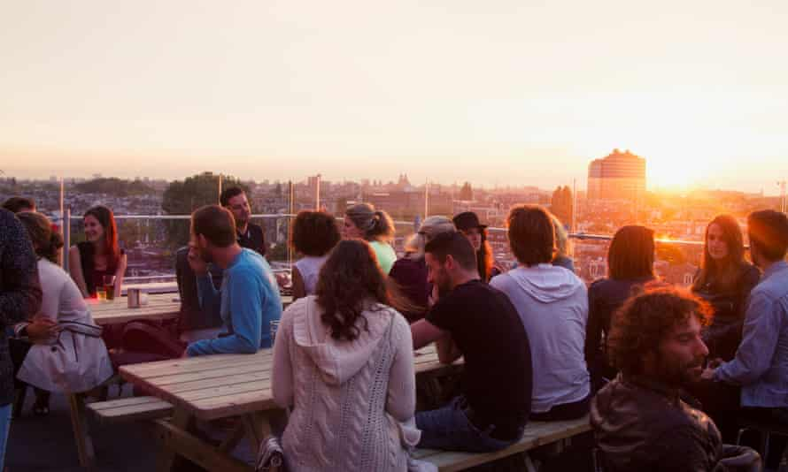 Rooftop bar Canvas is a new addition to east Amsterdam's nightlife scene.
