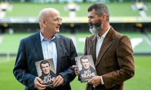 Roddy Doyle with Roy Keane. The author, a Chelsea fan, admits there was a 'certain pleasure in seeing him sent off'.