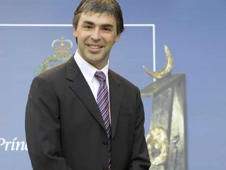 The 'painfully shy' Larry Page, co-founder of internet search engine Google.