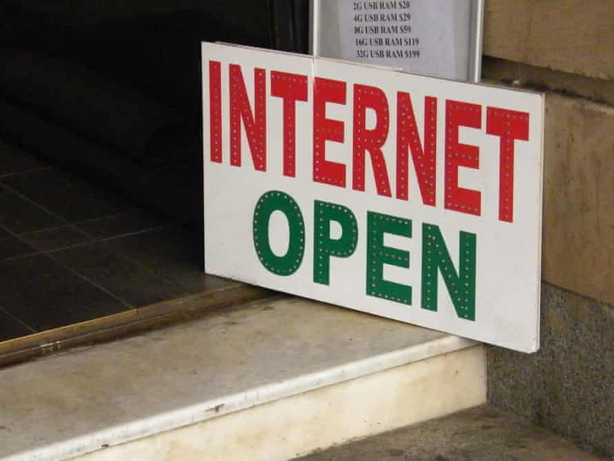 """A sign reading """"Internet Open"""""""