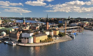 View ver Stockholm from the tower at City Hall.