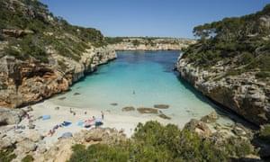 The beach at Santanyí, southern Mallorca