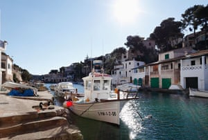 The harbour at Cala Figuera.