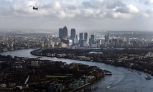 A stretch of the proposed 18-mile east-west cycle superhighway is set to pass through the Canary Wharf financial district in east London.