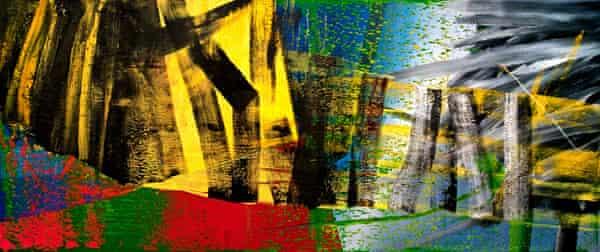 Marian Goodman was an early champion of Gerhard Richter (Abstraktes Bild, 1984).