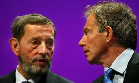 'I am one of the few that still defends him' ... Blunkett, then home secretary, with Tony Blair at the Labour party conference in 2003. Photograph: Scott Barbour/Getty