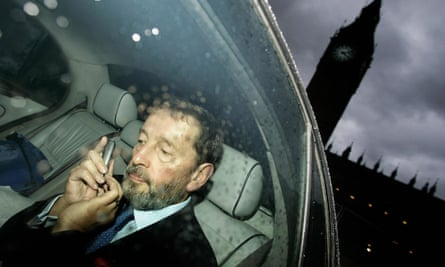 'I am not a parliamentarian. I am a politician. This is just a work environment.' David Blunkett after resigning as minister for work and pensions in 2005. Photograph: Andrew Parsons/PA