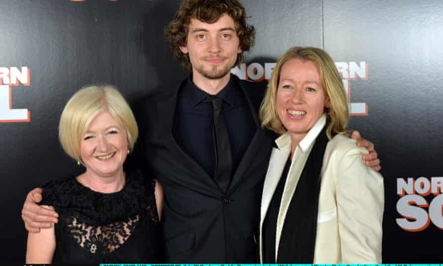 Producer Deddie Gray, actor Joshua Whitehouse and Elaine Constantine at the UK gala screening of Northern Soul.