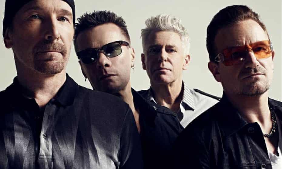 The Edge, Larry Mullen, Adam Clayton and Bono of U2.