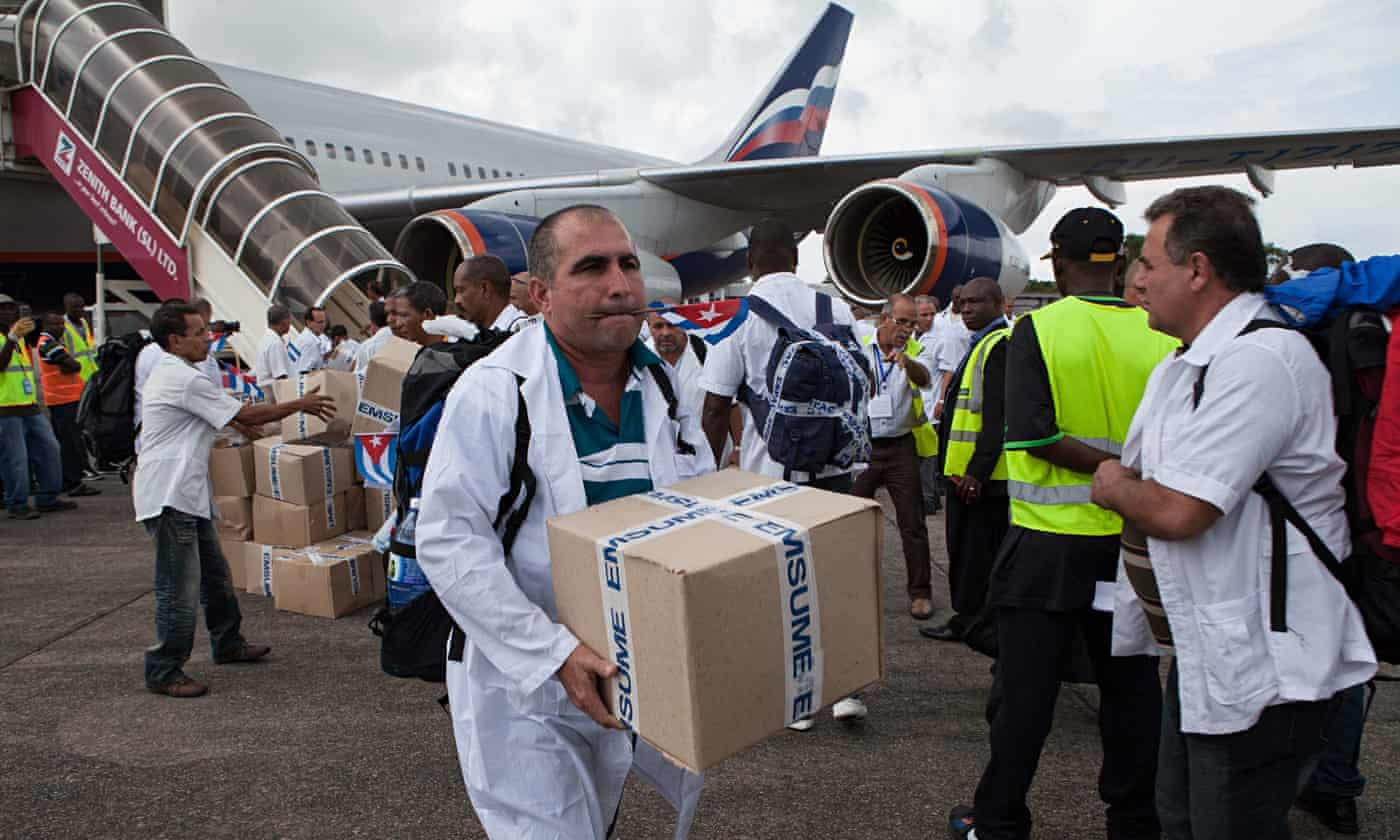 Cuba leads fight against Ebola in Africa as west frets about border security