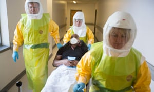NHS staff take part in a national exercise to test Britain's readiness for an Ebola outbreak.