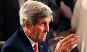 US Secretary of State John Kerry attends the Gaza international donors conference in Cairo.
