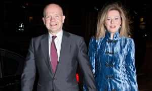 William Hague at the Conservative party 'black and white' fundraising ball